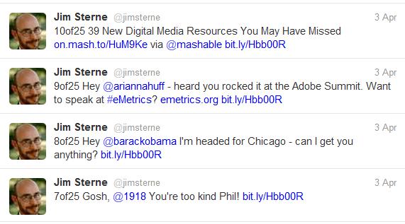 A sampling of 25 Tweet Types