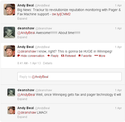 @AndyBeal is nice to me again
