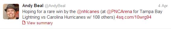 The Carolina Hurricanes are horrible