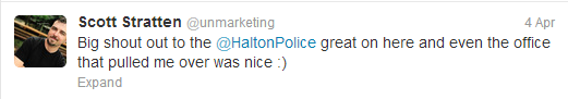 @unmarketing gets busted by the po po